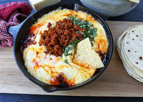 queso fundido chorizo mexican melted modernhoney chocolate cookies chips baked cheeses recipe sausage levain bakery crush chip tortillas spicy chicken