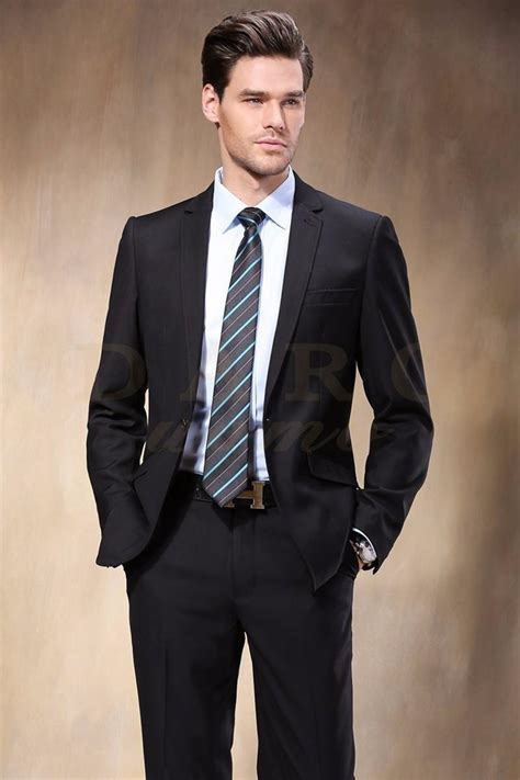 western style black color men business suits brand boss