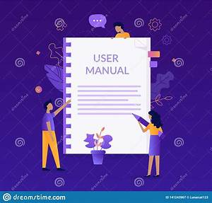 User Manual Concept Stock Vector  Illustration Of Graphic