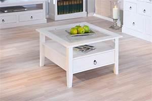 Couchtisch Schublade Weiß : couchtisch provence mit ablage und schublade kiefer massiv wei ~ Markanthonyermac.com Haus und Dekorationen