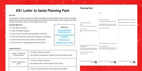 formal  informal letters lesson plan christmas nativity