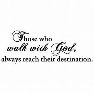 Walk with god quote vinyl wall decal sticker art christian