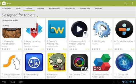 free apps for android tablets android tablets now show tablet designed apps by default