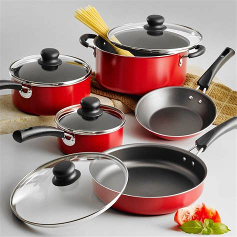 Nonstick 14piece Pots And Pans Cookware Set Cooking Set