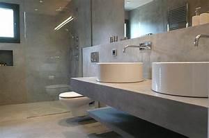 beton cire pour salles de bain With salle de bain en dur