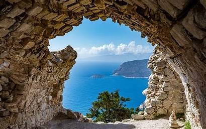 Mediterranean Sea Mountain Cave Mountains Summer Greece