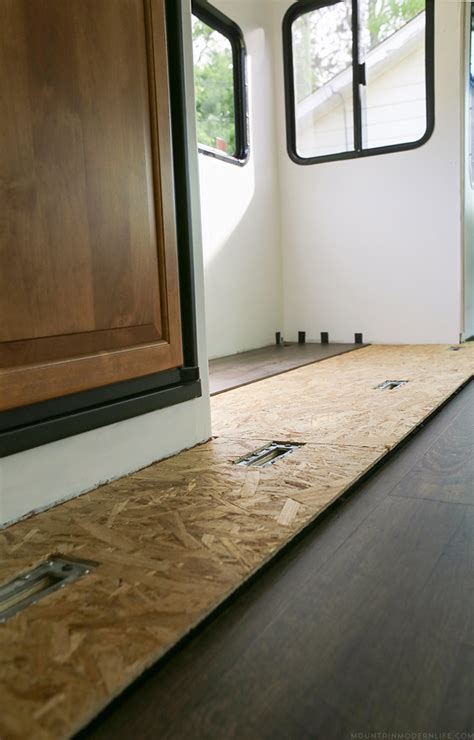 floor in tips to replace the flooring inside a rv slide out