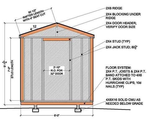 free shed plans 8x8 100 8x8 shed plans materials list 8 8 gambrel