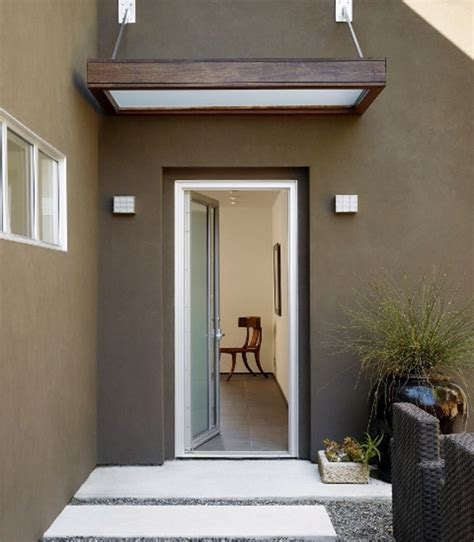 house awnings canopies canopy  front door glass