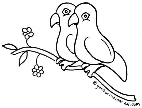 gambar mewarnai gambar burung merak bliblinews lucu anak