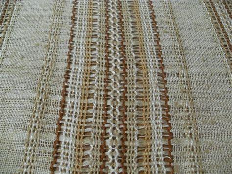 brown copper white open weave drapery fabric new