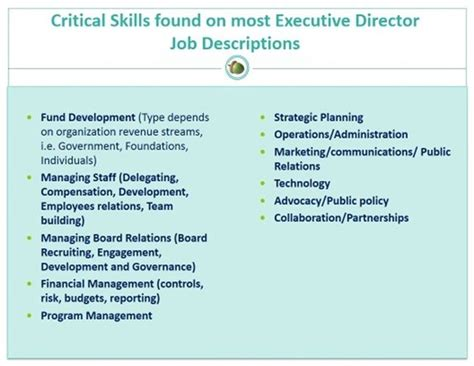 developing nonprofit executives the skills experiences