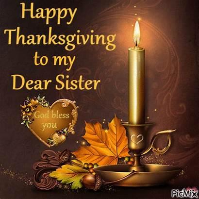 Sister Thanksgiving Happy Dear