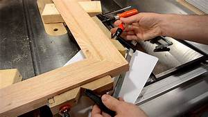 Making a picture frame (make molding on the table saw