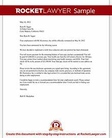 termination letter rl