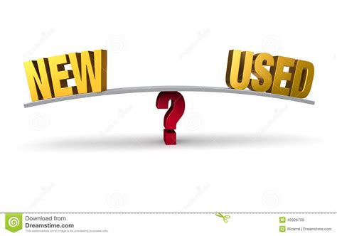Choosing Between New Or Used Stock Illustration Image