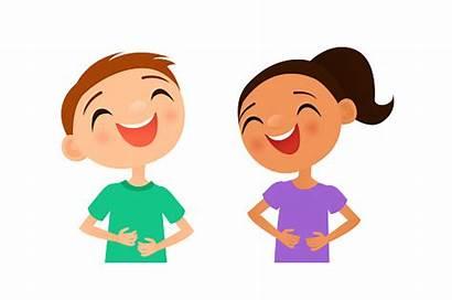 Laughing Clipart Children Boy Vector Illustration Illustrations