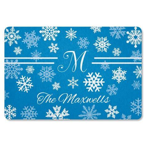 snowflake doormat snowflake personalized welcome doormat current