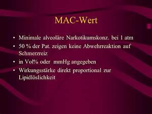 Mac Wert Berechnen : allgemeines inhalationsnarkotika injektionsnarkotika ppt herunterladen ~ Themetempest.com Abrechnung