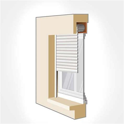 mini cuisine en bois fenêtre avec volet roulant intégré menuisieries modernes