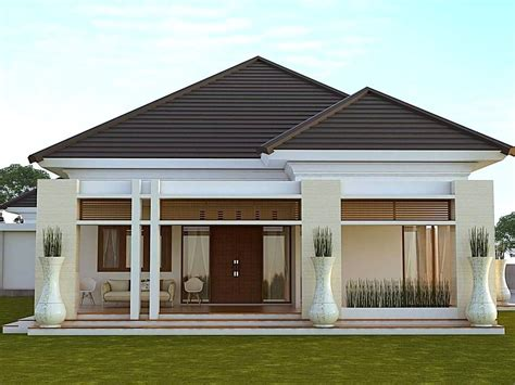 desain rumah minimalis type 45 modern tak depan