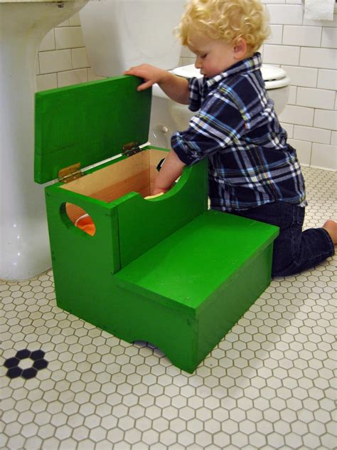 woodworking project   build  storage step stool