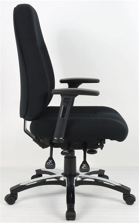 Office Chairs For Back by Barcelona Black Fabric Office Chair
