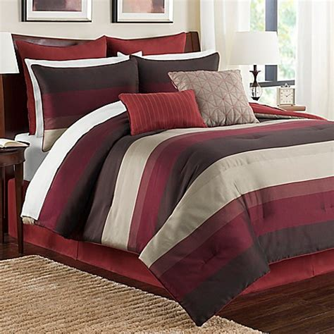 buy hudson twin comforter set in red from bed bath beyond