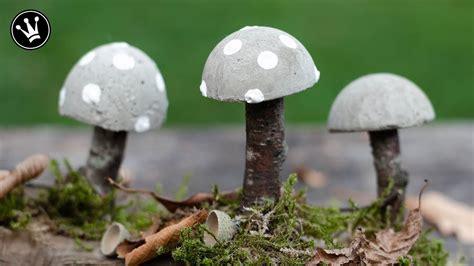 diy herbstdeko selbermachen pilze aus beton herbstliche tischdeko how to