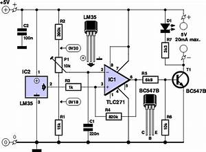 Temperature Controlled Switch Circuit Diagram