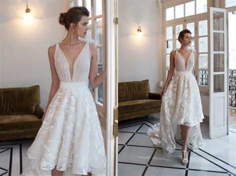 Deep V-neck! 27 Stunning Plunging Neckline Wedding Dresses