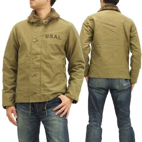 pine avenue clothes shop rakuten global market alpha n 1 deck jacket alpha 20521 414 khaki new