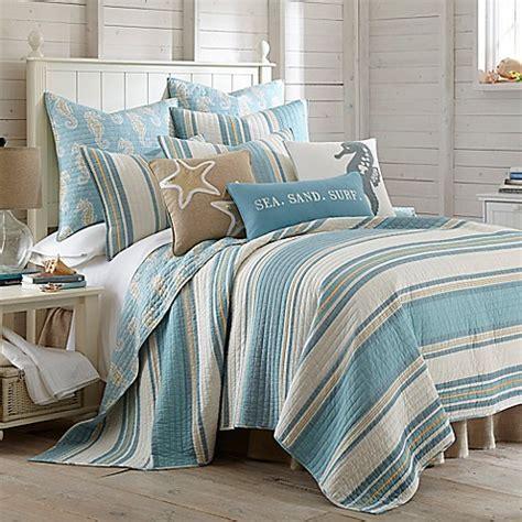 levtex home blue maui reversible quilt set www