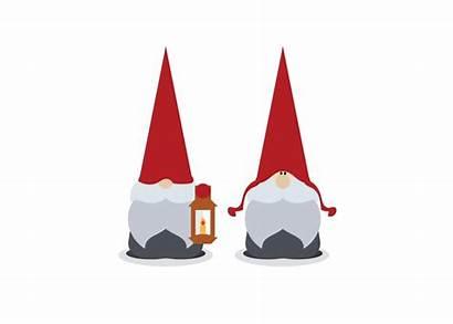 Gnomes Scandinavian Cartoon Gnome Christmas Illustrations Vector