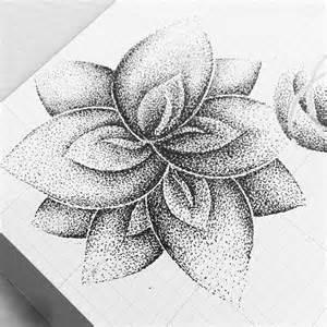 Dots Stippling Drawing