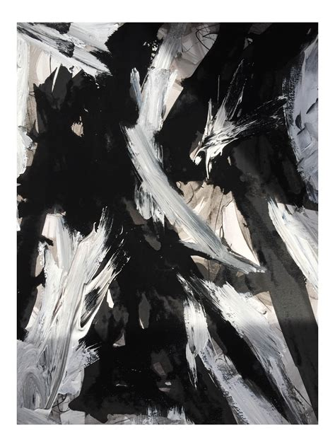 Abstract Black And White Ink Painting by Black Black White Abstract Acrylic Ink Painting