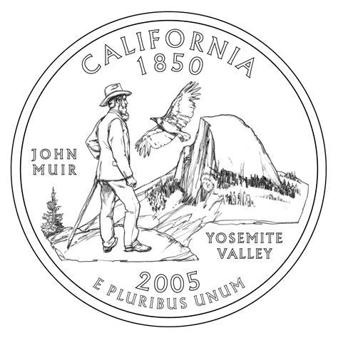 John Muir Yosemite California State Quarter Coin
