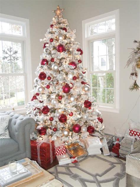 decorate  festive flocked christmas tree