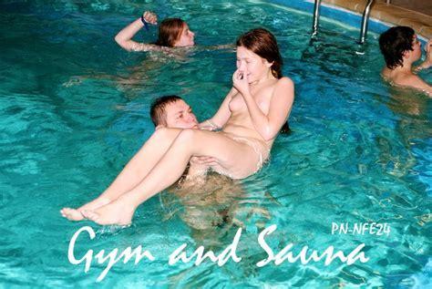 Nudism Life Gymnastic Office Girls Wallpaper