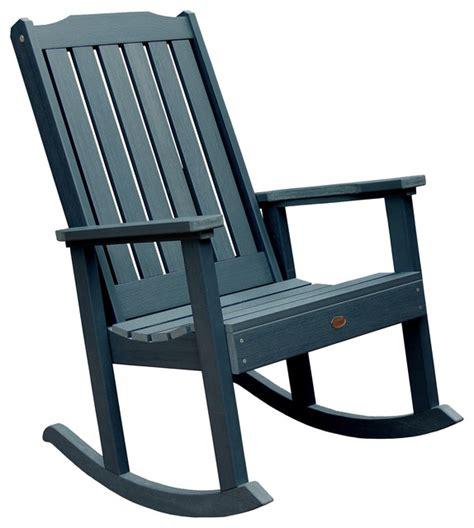 lynnport rocking chair navy blue