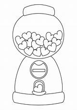 Coloring Pages Easy Candy Tulamama Machine sketch template