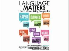 Why Language Matters Campaign Raises Awareness at Rutgers