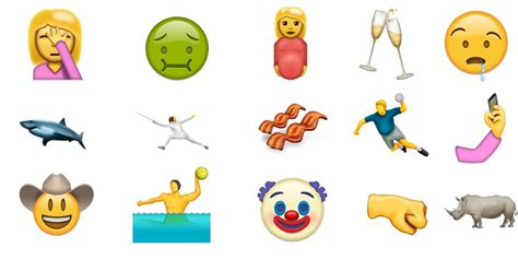 unicode 9 emoji face palm bacon water polo and 71 other emoji may be