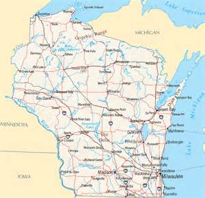 Wisconsin Map with Cities