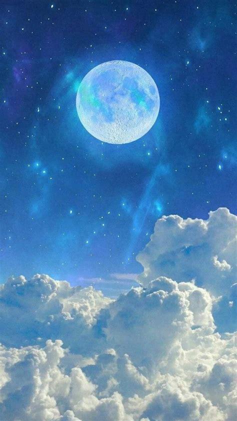 blue moon beautiful moon wallpaper sky aesthetic