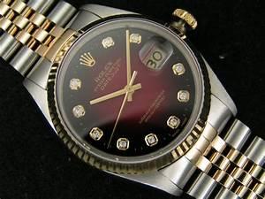 Rolex Uhr Herren Gold : rolex datejust herren uhr mit diamanten ref 16013 ebay ~ Frokenaadalensverden.com Haus und Dekorationen