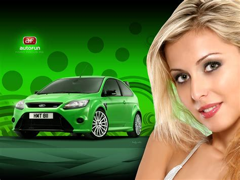 Blonde Girls And Cars With Power Focus Ford Rs Vr Gto Hd