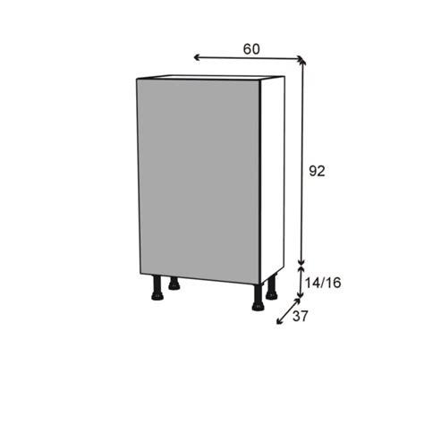 meuble bas cuisine 1 porte meuble de cuisine bas stilo noyer naturel 1 porte l60 x