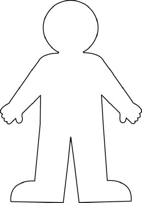 human template human clipart outline pencil and in color human clipart outline
