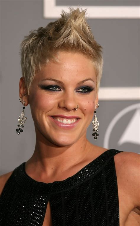 Pink Fauxhawk Pink Short Hairstyles Looks Stylebistro